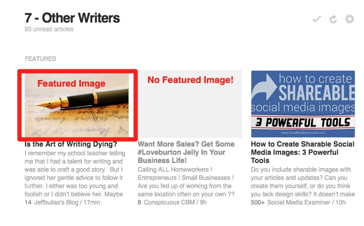 Featured Images on Feedly