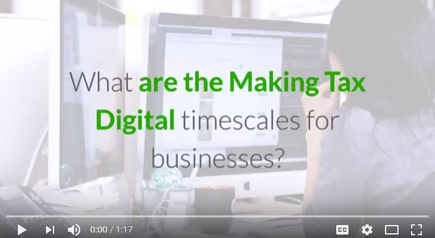 Video: Making Tax Digital timescales for businesses