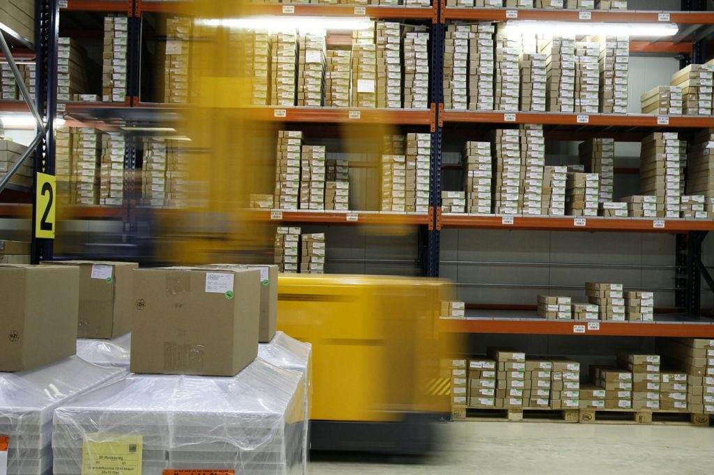 Inventory lead times in a warehouse