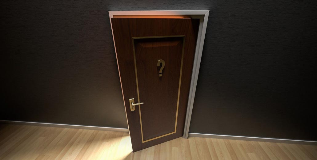 Door with question mark - Content marketing for accountants