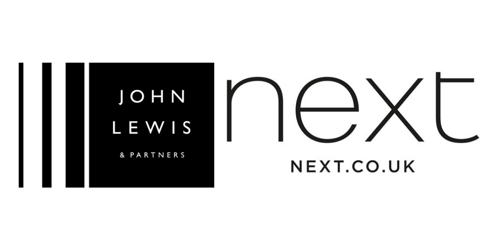 John Lewis, Next, Marks and Spencer