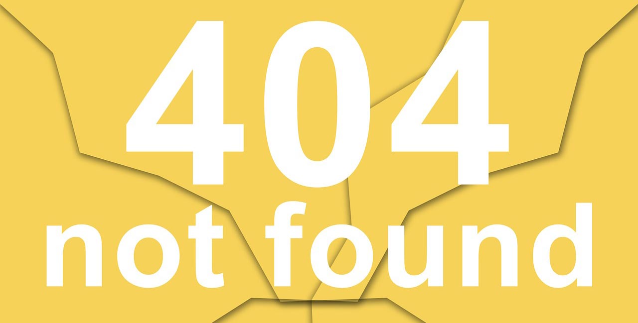 404 error page for ecommerce store website