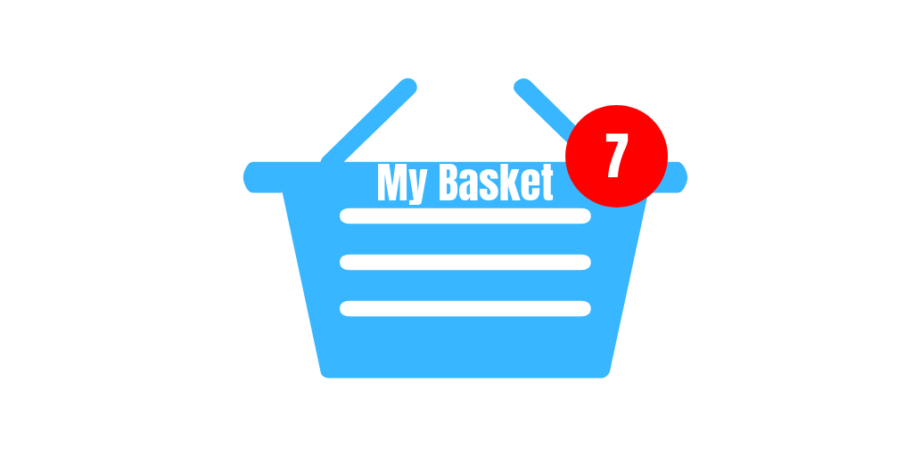 Basket on ecommerce store.