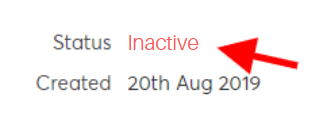 See the inactive status in GoCardless